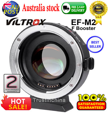 VILTROX EF-M2 auto focus adapter 0.71x Canon EF Mount to m43 lens Speed Booster