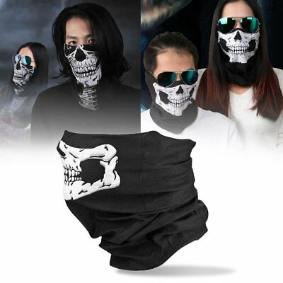 Skull Balaclava Traditional Face Protective Head Cover Mask Gator Black NWT BY