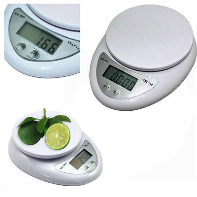 5KG Digital Weighing LCD Electronic Kitchen Household Scale Food Cooking BY