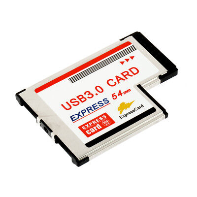 Express Card Expresscard 54mm to USB 3.0x2 Port Adapter BY