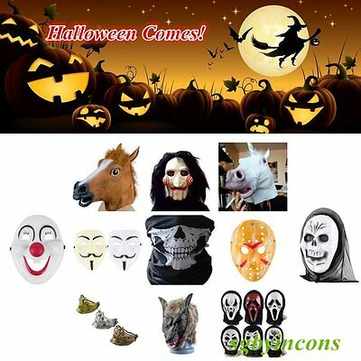 Yeah! Cosplay Halloween Party Costume Horse Head Mask Adult Masquerade Party BY