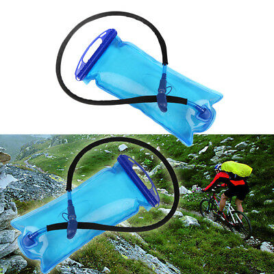 2L Portable Water Bladder Bag Hydration Camping Hiking Outdoor Sports Blue BY