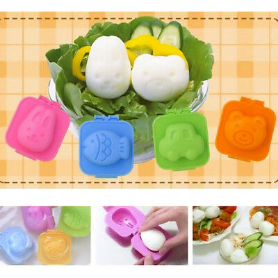 6pcs Boiled Egg Sushi Rice Mold Bento Maker Sandwich Cutter Decorating Home BY