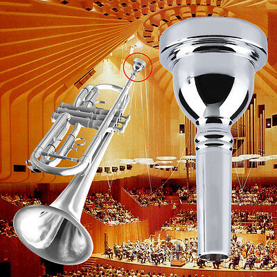 Trumpet Mouthpiece for Bach 7C Size Silver Plated Musical Instrument New BY