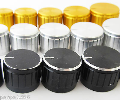 10pcs 13x17mm Circular Knob Aluminium Cover for Audio Volume Tone Control 3color
