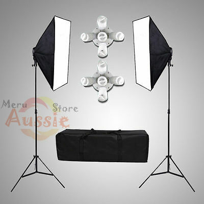 2750W Photography Studio Softbox Continuous Lighting Video Soft Box Stand Kit