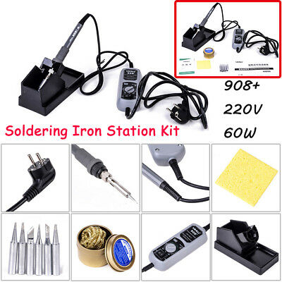 908+ 220V 60W Electric Iron Soldering Station For SMT SMD Welding Rework Set