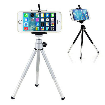 Mini 360° Rotatable Mobile Stand Tripod Mount + Phone Holder For iPhone Welcome