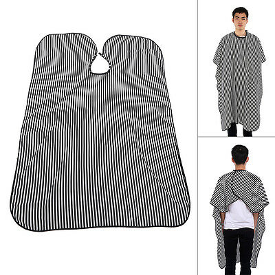 Adult Hair Cut Hairdressing Barbers Hairdresser Stripe Cape Gown Cloth Kit GW