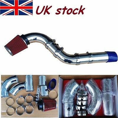 "3""76MM Universal Performance Cold Air Filter Feed Induction Intake Pipe Hose Kit"