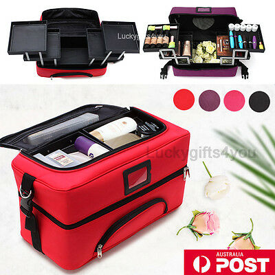Professional Makeup Case Portable Cosmetics Beauty Case Box Carry Bag Organiser