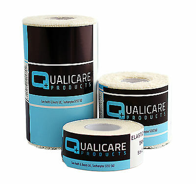 Qualicare Elastic Adhesive Bandages - EAB, Sports Support Strapping Tape White