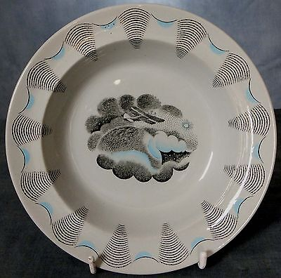 LOVELY, RARE, ERIC RAVILIOUS DESIGNED DISH from the TRAVEL SERIES - BIPLANE