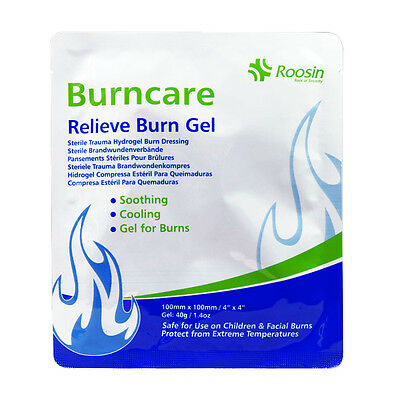 Burncare Hydrogel Burn Relief Gel Dressing - Soothe Cool Trauma Injury, Multibuy