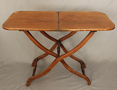 19th Century Mahogany Campaign Coaching Table