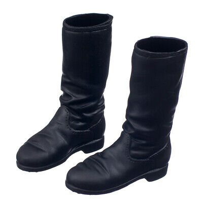 "1/6 Scale 12"" Kumik Phicen Female Toys Winter Fashion Accs Flat Black Boots"