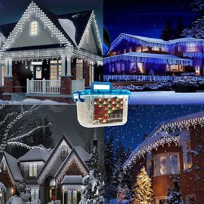 480/720/960/1200 Christmas Icicle Snowing Led Xmas Chaser Lights Outdoor White