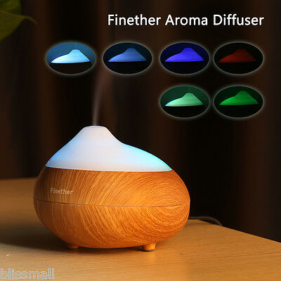 Electric LED Essential Oil Aroma Diffuser Car Ultrasonic Humidifier Aromatherapy