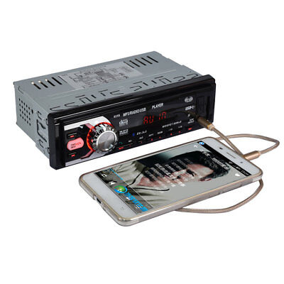 Car Vehicle Radio Stereo Audio MP3 Player Bluetooth DC12V AUX FM Receiver 8258 B
