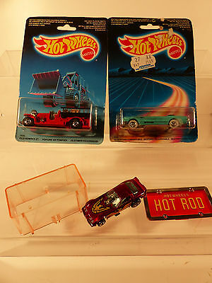 3x Hot Wheels 1542 Mustang + 1695 Old Nr.5 + Hot Rod Firebird  Ladenfund - NOS