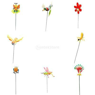 Garden Decorative Flying Windmill Dancing Animal w/ 45cm Stick Toy Outdoor Decor