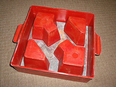 "Vintage Screencast decorative concrete block mould + insert 12"" / 30cm square"