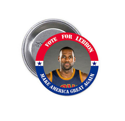 """New Vote for LeBron James Big 2.25"""" Pinback Button Badge NBA Cleveland Cavaliers"""