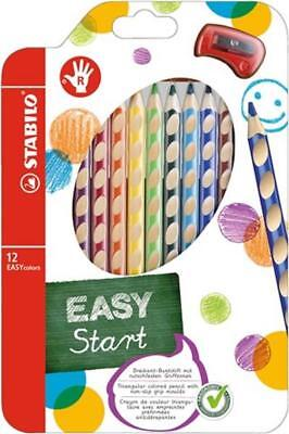 12 Stabilo Easycolors Easy Colors Buntstifte Farbstifte Mit Spitzer Im Etui Top