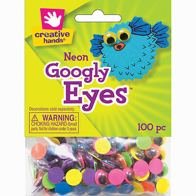 Googly Eyes 10mm 100/Pkg Neon 8810197E