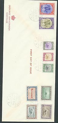 Greenland set of 9 on FDC 1 Feb 1945 Kutdligssat