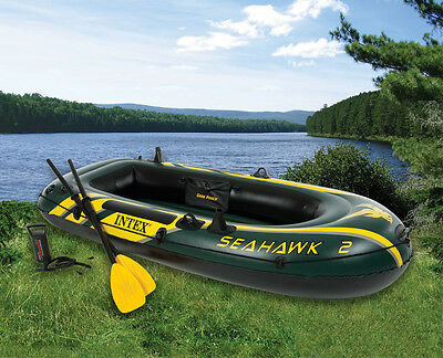 Seahawk 200 boat set - Intex 68347- Including French Oars and Pump.- New