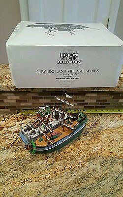 Dept 56 New England Village THE EMILY LOUISE Boat Ship w/ box