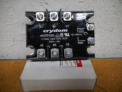 Crydom A53TP50D 3PH Solid State Relay 90-280VAC 530V 50A New In Box