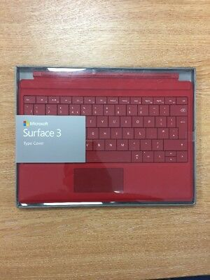 New Microsoft Surface 3 Type Cover UK Keyboard Black For Surface 3 Tablet
