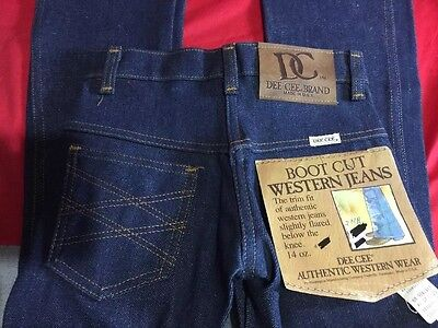 NEW-WASHINGTON DEE CEE Size 6 Boys VINTAGE ORIGINAL FLARE DENIM JEANS DEADSTOCK
