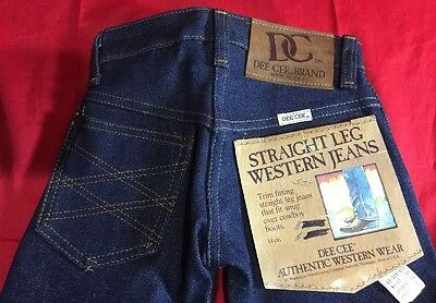 NEW-VINTAGE ORIGINAL Size 2 Baby FLARE DENIM JEANS WASHINGTON DEE CEE DEADSTOCK