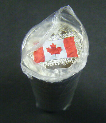 2015 Canada Flag 50th Anniversary quarter coloured and non-col 25 cent coin Roll