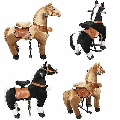 Pony Ride on Horse Cycle Medium Mechanical Walking Horse (Black & Gold )Age 4-9
