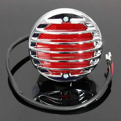 FEU ARRIERE CHROME GRILLE  STOP ECLAIRAGE PLAQUE light rear moto phare tail
