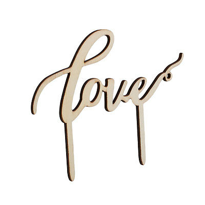 Love Letter Wooden Cake Topper Wedding Decorations Party Festival Fondant