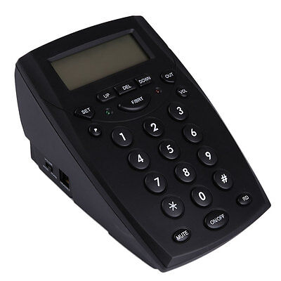 Office Call Center LCD Display Telephone With Corded Headset HandsFree Dial