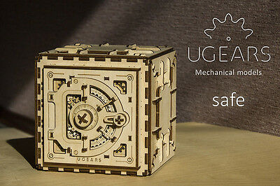 UGEARS Safe - Wooden Mechanical Self Assembly Moving Kit 3D Puzzle