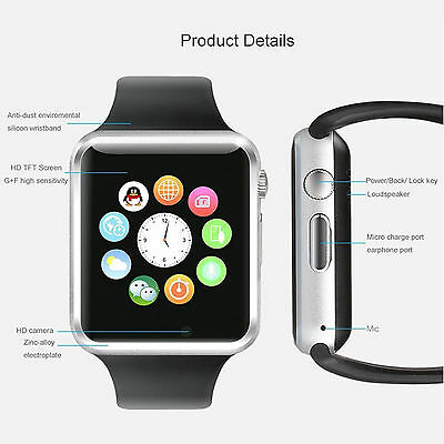 New A1 Smart Watch With Sim Card slot Camera  Bluetooth for Android IOS.