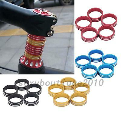 5pcs Road Bike Bicycle Cycling Aluminum Stripe Washers Headset Stem Spacer New