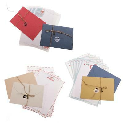 Retro Christmas Style Letter Paper Envelope Sets Greeting Cards Message Paper