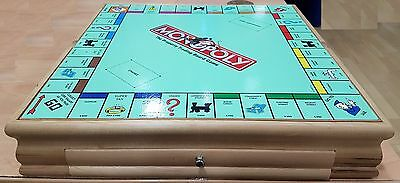 Hasbro Monopoly And Cluedo Compendium Board Game In Solid Wooden Box