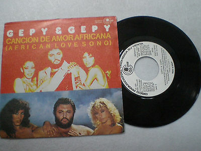 GEPY & GEPY African Love Song SPAIN PROM0 45 1980 Italo Disco