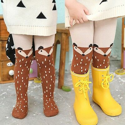 Girl Tights Cotton Cute Children Stocking Baby Pantyhose Size 1-4 years old FOX