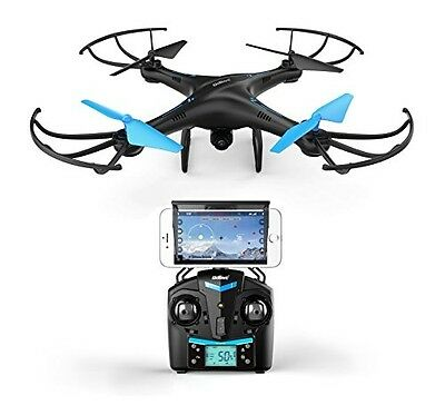 U45 Blue Jay WiFi FPV Quadcopter Drone w/ HD Camera, Altitude Hold, and Video