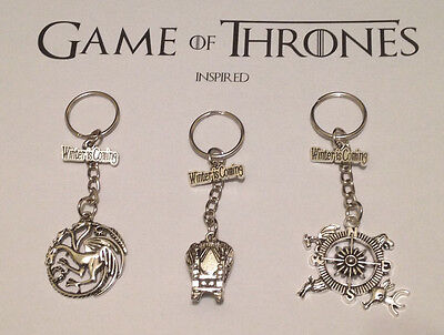 Game of thrones inspired keyring. Ideal stocking filler. Free gift bag.